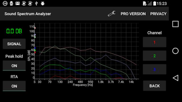 Sound Spectrum Analyzer PRO screenshot 3