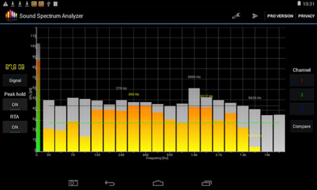 Sound Spectrum Analyzer PRO screenshot 6