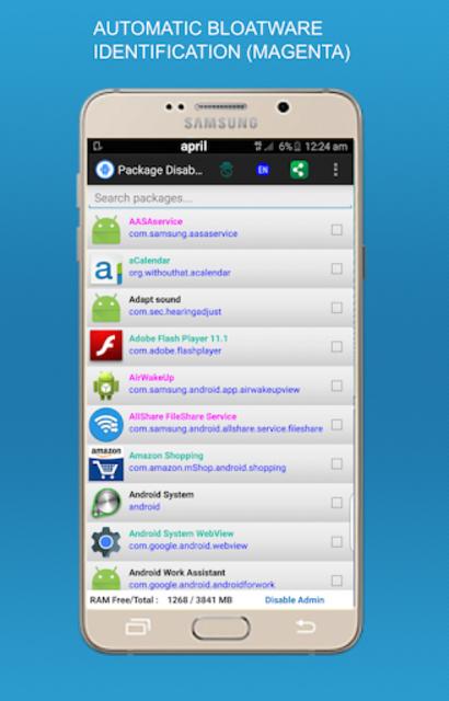 Package disabler pro for  LG screenshot 2