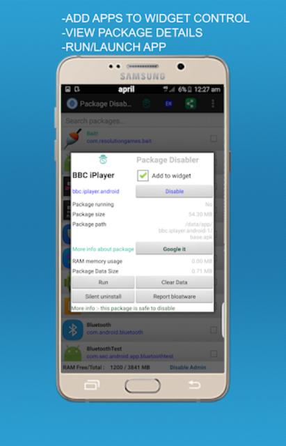 Package disabler pro for  LG screenshot 3