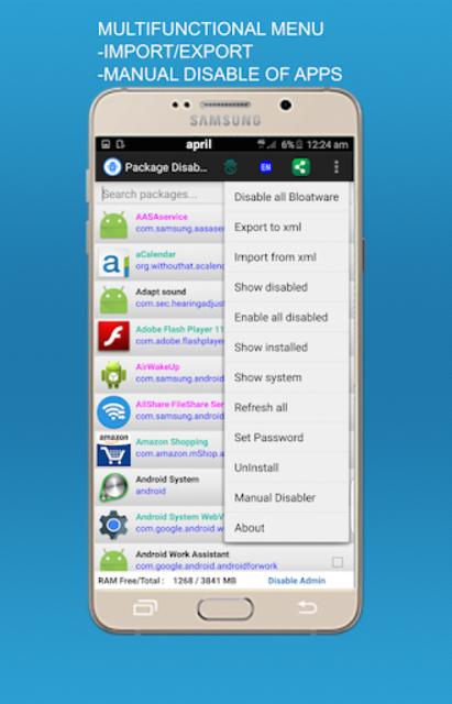 Package disabler pro for  LG screenshot 4