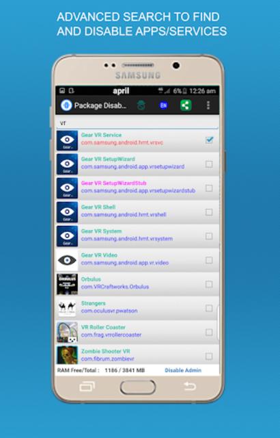 Package disabler pro for  LG screenshot 5