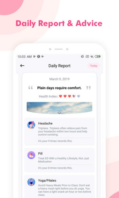 Period Tracker Cherry - Menstrual Cycle Tracker screenshot 5