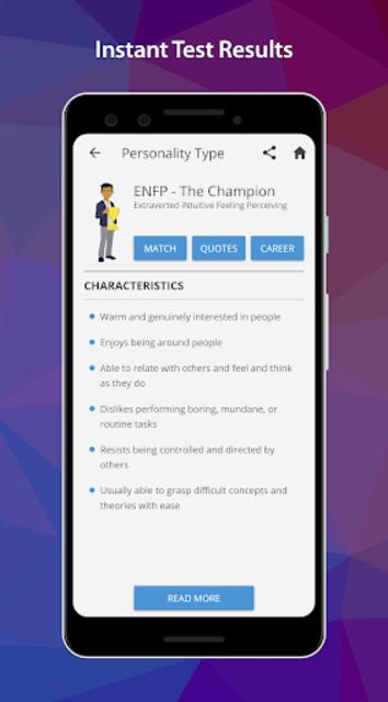 PersonalityMatch - Personality Test and Matching screenshot 3