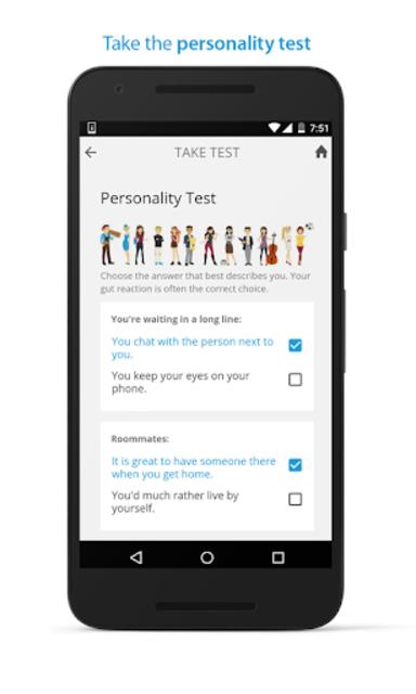 PersonalityMatch - Personality Test and Matching screenshot 2