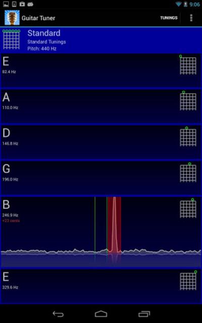 GuiTune - Guitar Tuner! screenshot 1