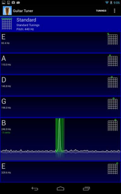 GuiTune - Guitar Tuner! screenshot 2