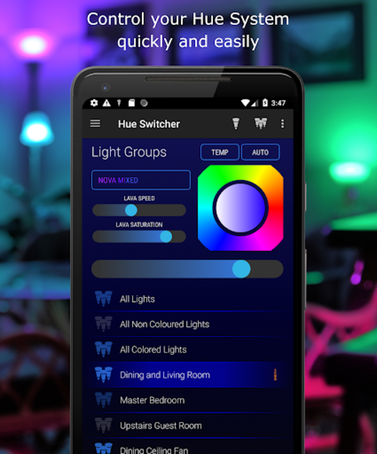Hue Switcher for Philips Hue Systems screenshot 1