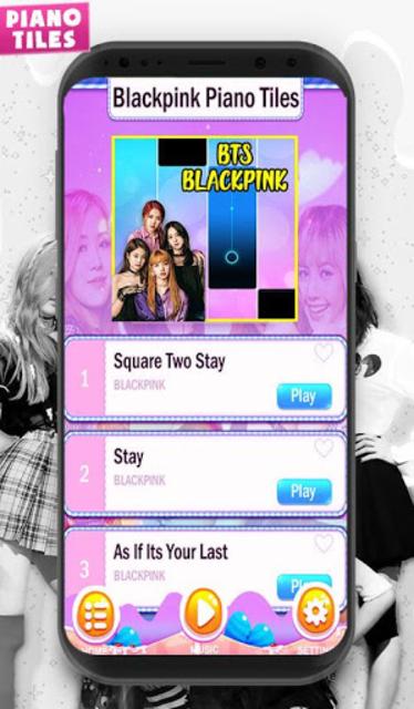 KPOP Piano Black Pink Tiles screenshot 3