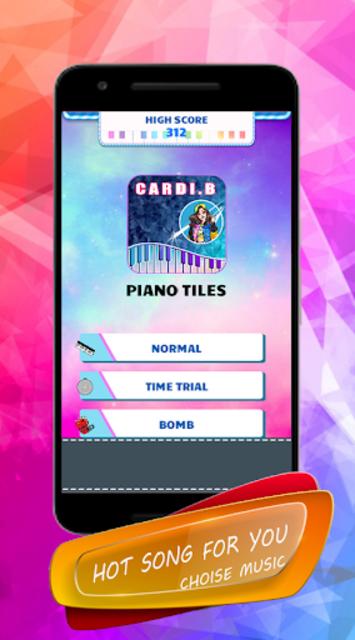Cardi B - Piano Tiles screenshot 2