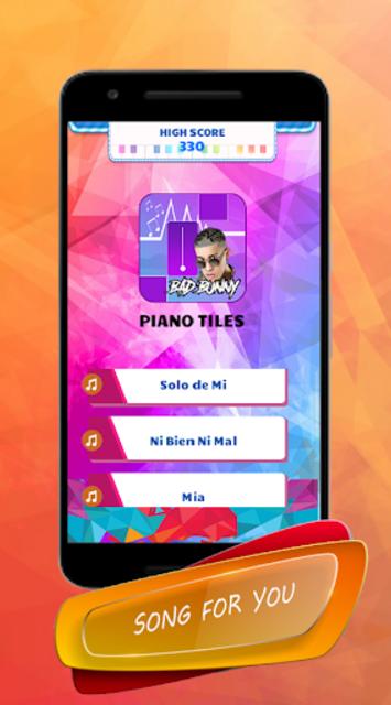 Bad Bunny - Piano Tiles Song screenshot 1