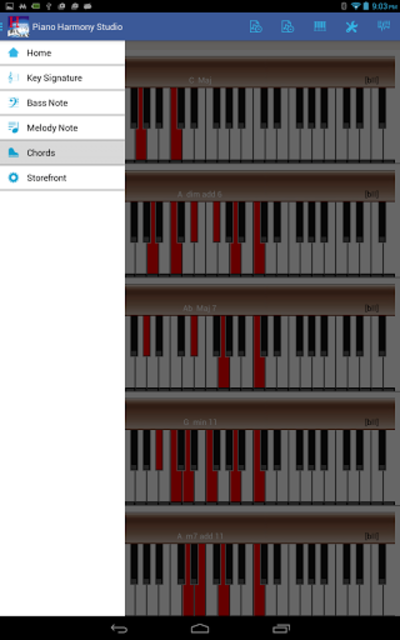 Piano Harmony MIDI Studio Pro screenshot 3
