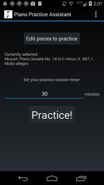 Piano Practice Assistant screenshot 1