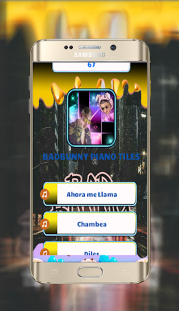 Bad Bunny Piano Tiles screenshot 1