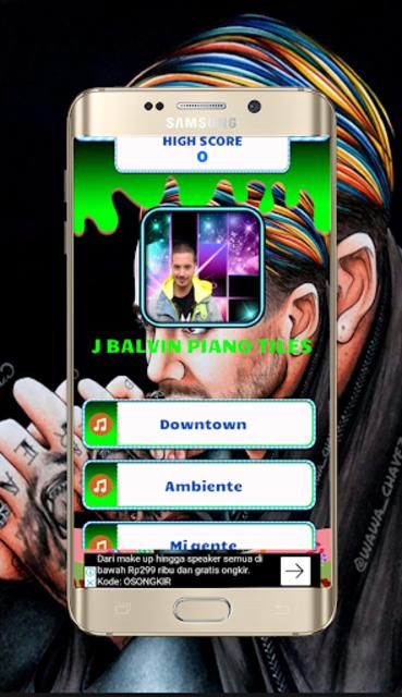 J Balvin Piano Tiles screenshot 1