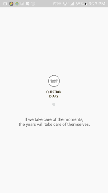 Questions Diary:One self-reflection question. screenshot 1