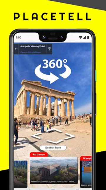 PlaceTell Maps - Find Videos Near You Virtual Tour screenshot 1