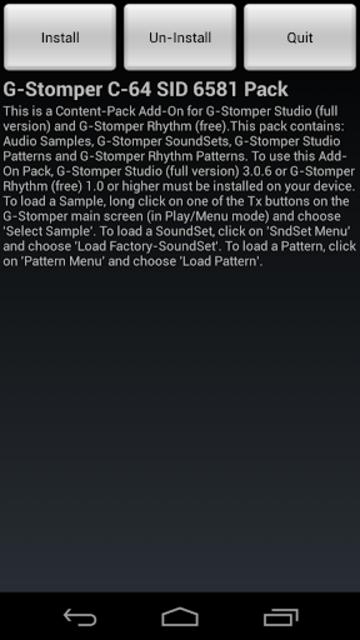 G-Stomper C-64 SID 6581 Pack screenshot 1