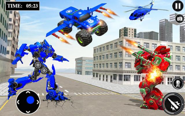 US Police Monster Truck Robot screenshot 1