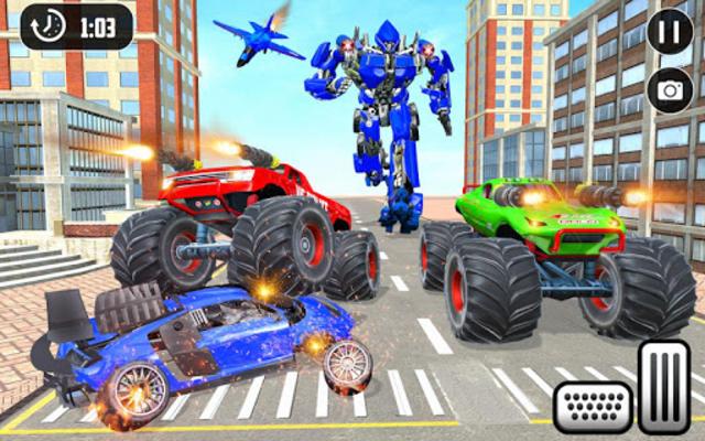 US Police Monster Truck Robot screenshot 12
