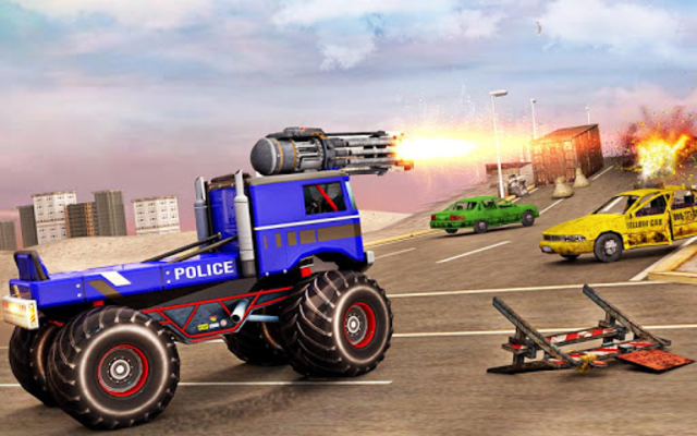 US Police Monster Truck Robot screenshot 13