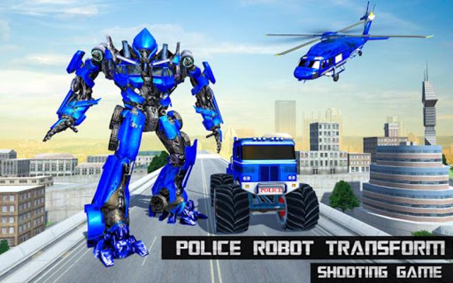 US Police Monster Truck Robot screenshot 7