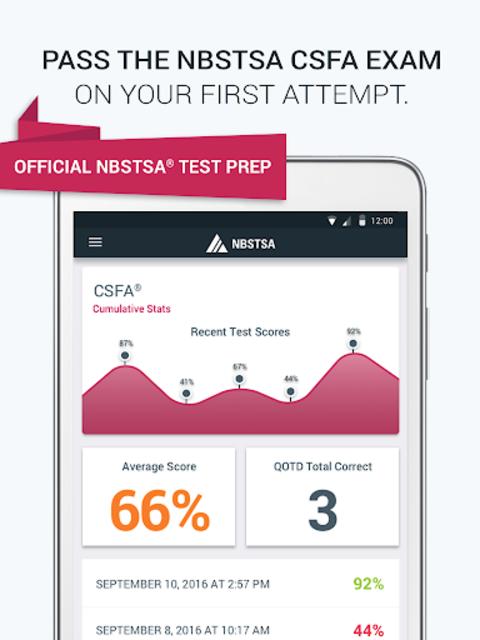Official NBSTSA CSFA Exam Prep screenshot 11