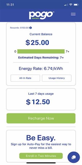 Pogo Energy - Pay As You Go Electricity screenshot 2
