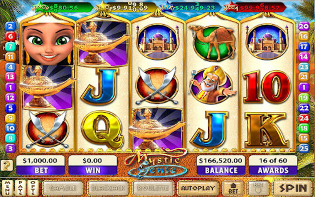 Mystic Genie Slots screenshot 1