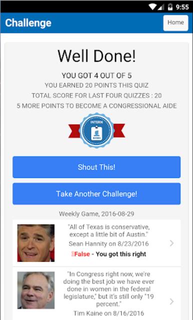 PolitiFact's : Settle It! screenshot 2
