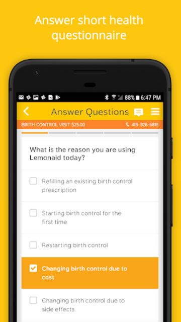 Lemonaid: same day online care screenshot 2