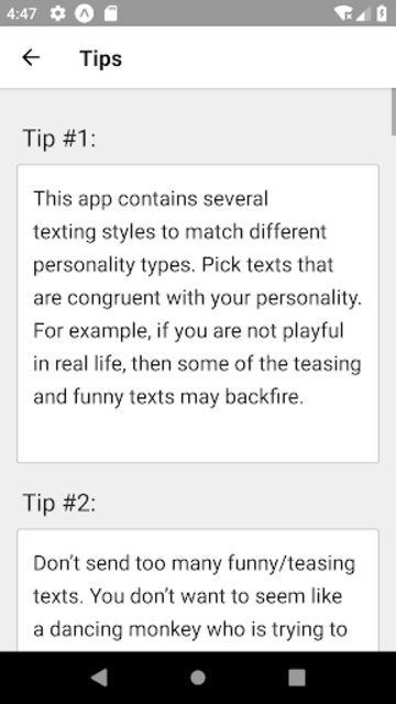 Texting Girls Guide Pro screenshot 2