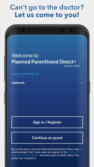Planned Parenthood Direct℠ screenshot 1