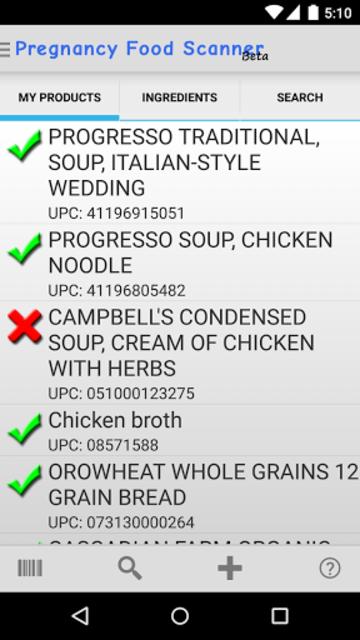 Pregnancy Food Scanner screenshot 1