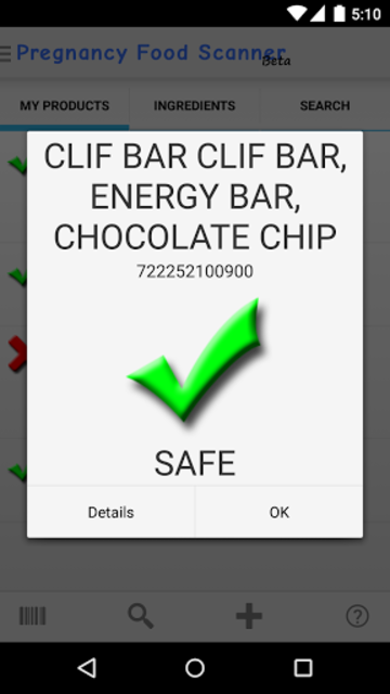 Pregnancy Food Scanner screenshot 2