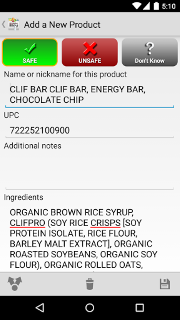 Pregnancy Food Scanner screenshot 4