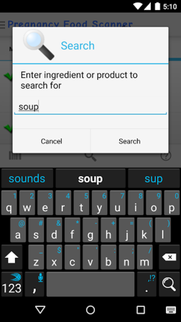 Pregnancy Food Scanner screenshot 6