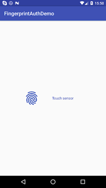 Fingerprint Auth Helper Demo screenshot 1