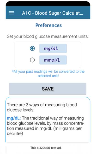 A1C Blood Sugar Calculator Tracker Diabetes app screenshot 4