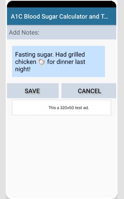 A1C Blood Sugar Calculator Tracker Diabetes app screenshot 6