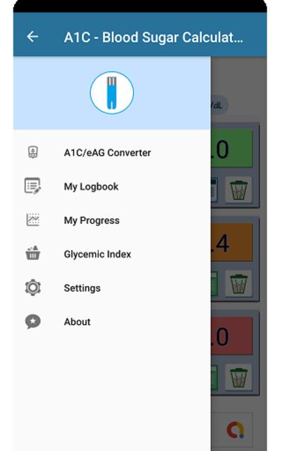 A1C Blood Sugar Calculator Tracker Diabetes app screenshot 7