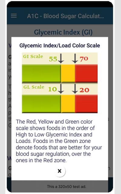 A1C Blood Sugar Calculator Tracker Diabetes app screenshot 8