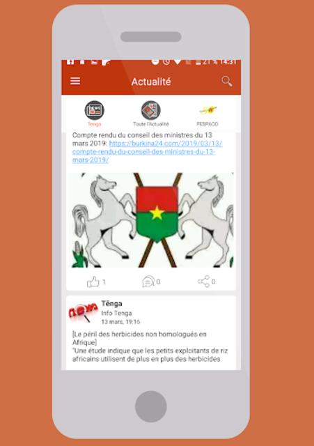 Tẽnga - Tout sur le Burkina avec Tenga ! screenshot 1