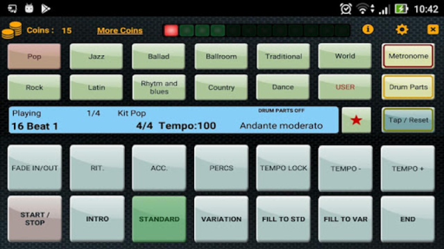 Metrodrummer metronome and drum machine screenshot 1