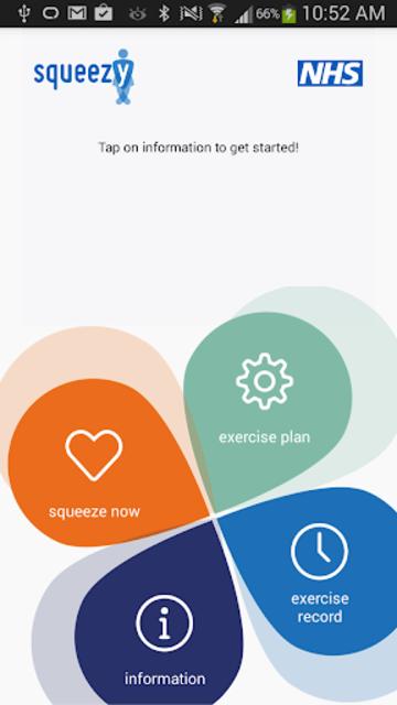 Squeezy: NHS Pelvic Floor App screenshot 1