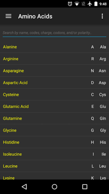 Amino Acids QUIZ screenshot 1