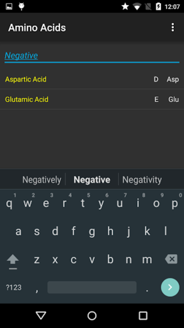 Amino Acids QUIZ screenshot 4
