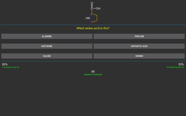 Amino Acids QUIZ screenshot 7