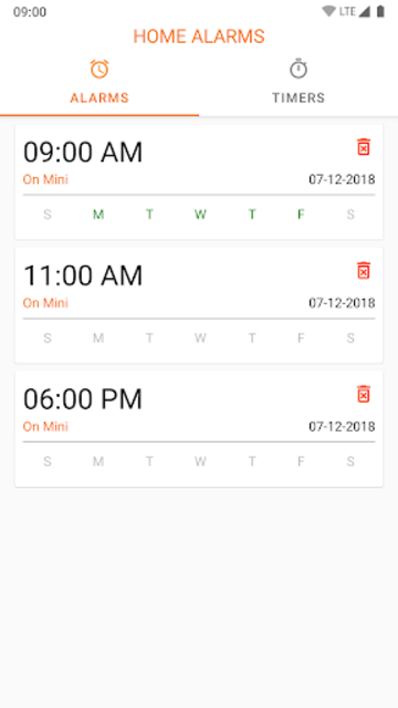 Google Home Alarms - Assistant Alarms at One Place screenshot 1