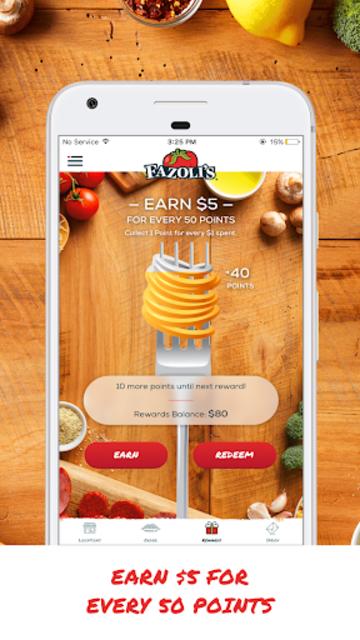 Fazoli's Rewards screenshot 2